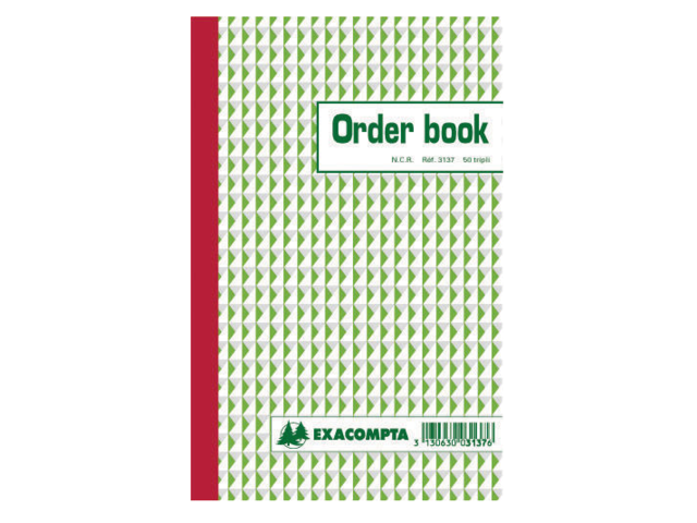 ORDERBOEK EXACOMPTA 210X135MM 50X3V