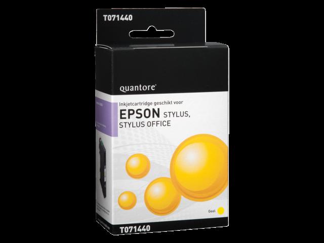 Inkcartridge quantore epson t071440 geel