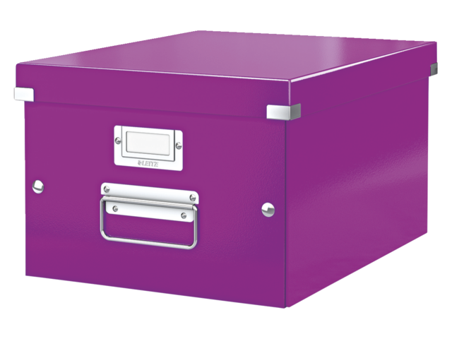 Opbergbox leitz click en store 265x188x335mm paars