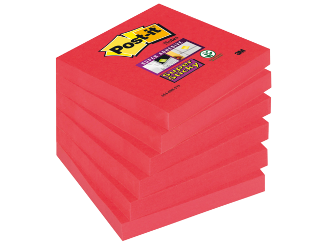 MEMOBLOK 3M POST-IT 654-SSPO 76X76MM STICKY POPPY