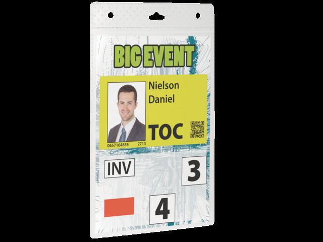 Badge durable 8525 voor evenementen a6 zonder koord