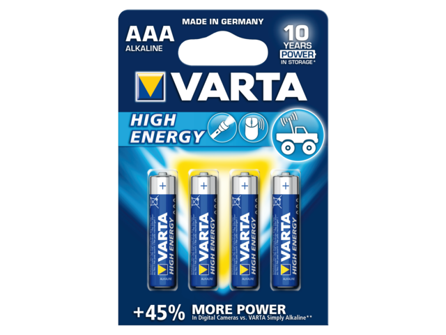 Batterij varta high energy 4xaaa voor belgie