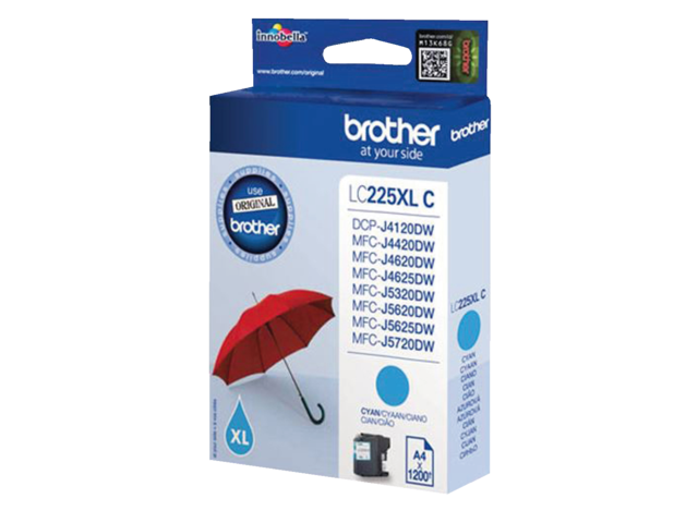 Inkcartridge brother lc-225xlc blauw hc