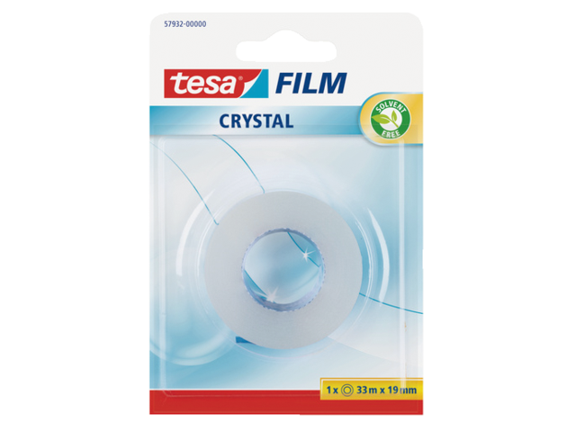 Plakband tesa film crystal 19mmx33m blister