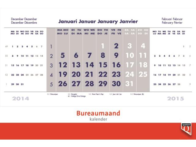 Photo: BUREAU-MAANDKALENDER 2016