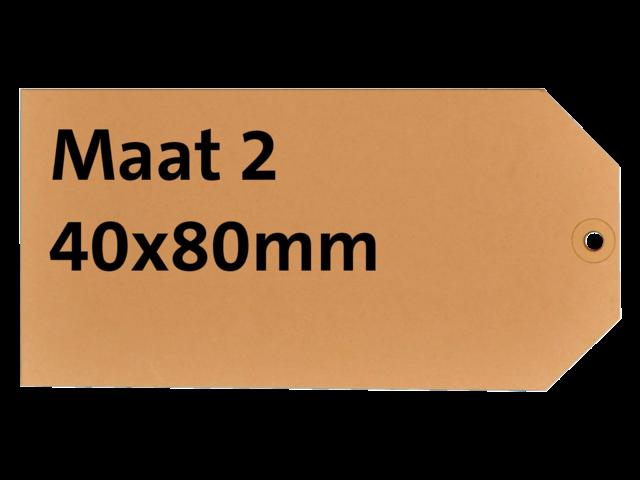 LABEL HF2 NR2 40X80MM KARTON 200GR CHAMOIS