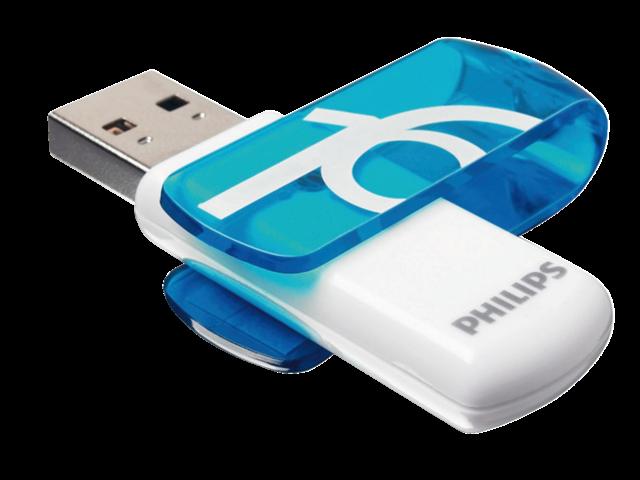 USB-STICK PHILIPS VIVID KEY TYPE 16GB 2.0 BLAUW