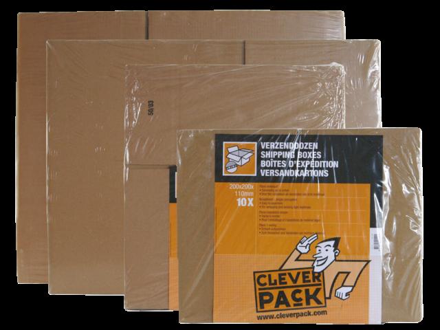 Verzenddoos cleverpack dubbelgolf 486x386x386mm bruin 5stuks