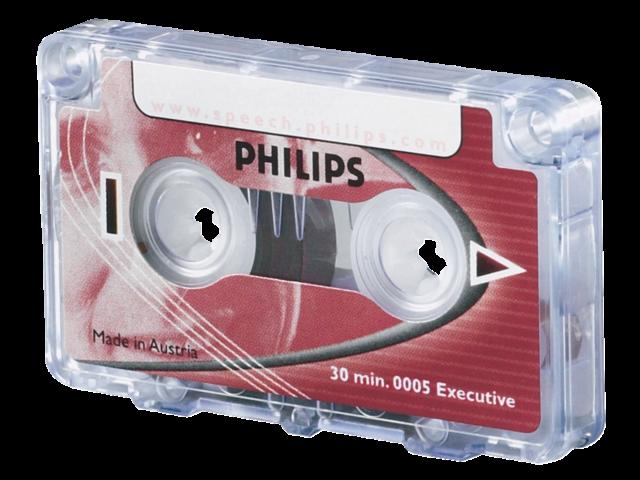 CASSETTE DICTEER PHILIPS LFH 0005 2X15MIN + CLIP