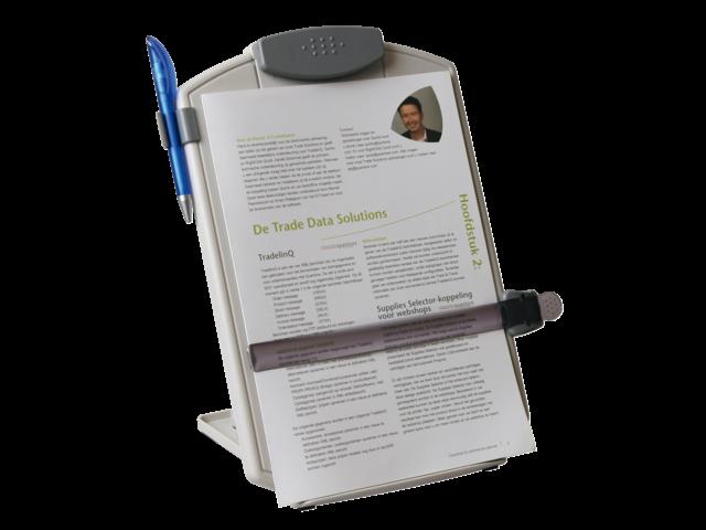 Documentenhouder quantore + leeslineaal lichtgrijs