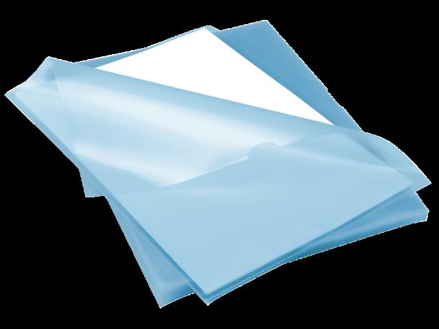 Insteekmap l-model rexel anti slip a4 pp blauw