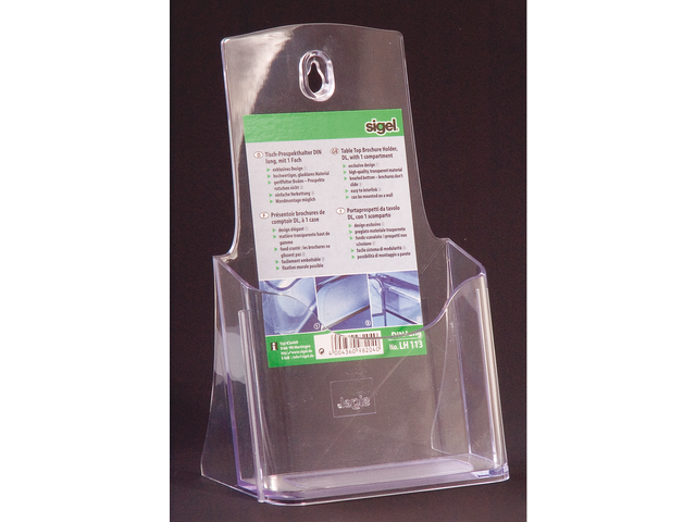 Folderstandaard sigel lh113 1x1/3 staand transparant