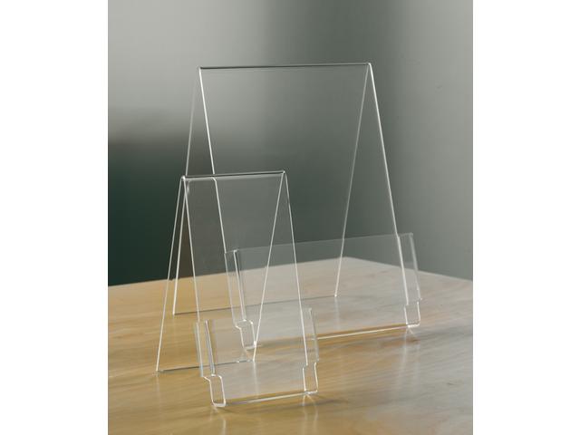 Folderstandaard opus2 a5 staand glashelder