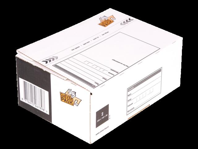 Postpakketbox 2 cleverpack 200x140x80mm wit 5stuks