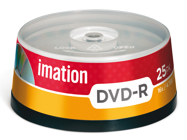 Dvd-r imation 16x4.7gb spindel 25stuks