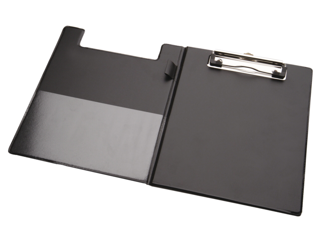 Kassablokhouder a5 karton met klem +penlus zwart