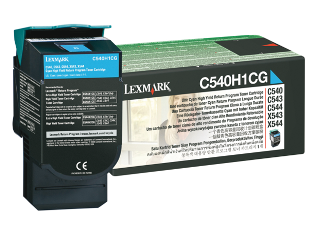 Tonercartridge lexmark c540h1cg prebate blauw hc