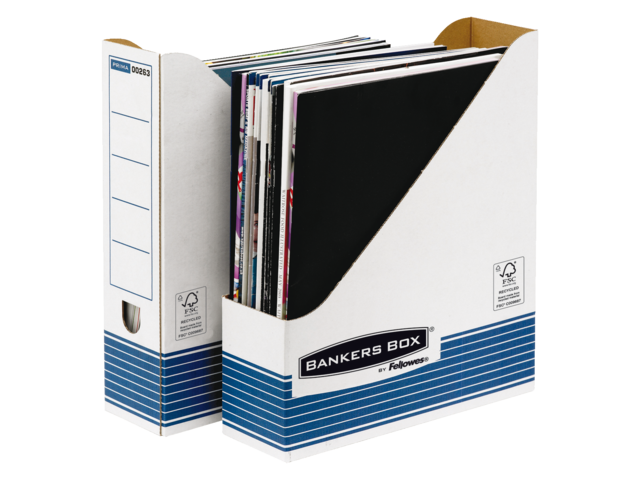 Tijdschriftcassette bankers box system a4 blauw