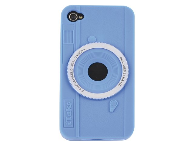 Telefoonhoes dresz silicone iphone 4/4s motief fotocamera