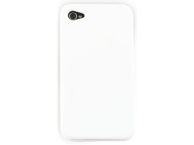 Telefoonhoes dresz silicone iphone 4/4s wit