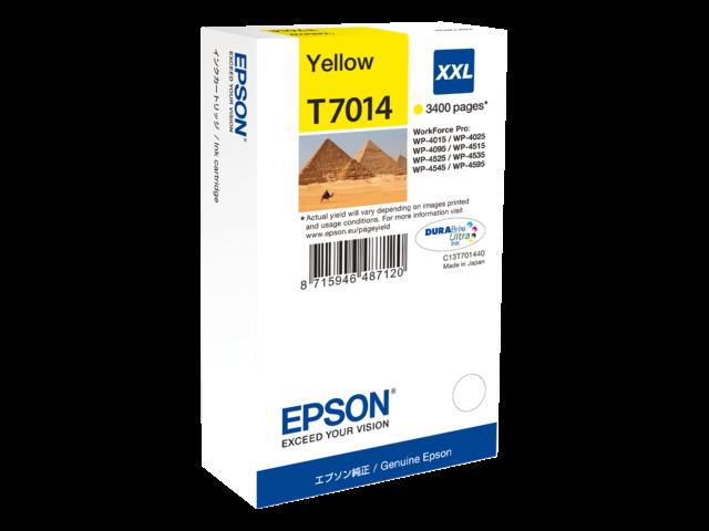 Inkcartridge epson t701440 geel hc