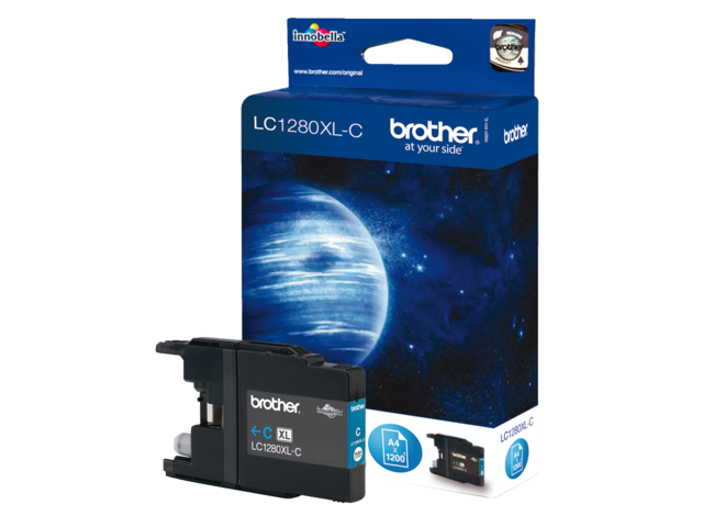 Inkcartridge brother lc-1280xlc blauw hc