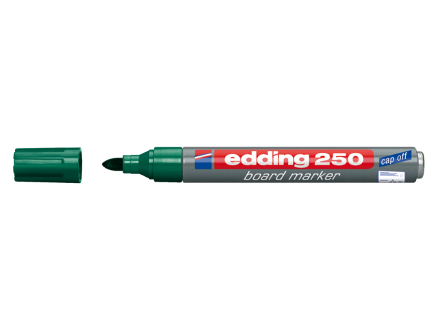 Viltstift edding 250 whiteboard rond groen 2mm