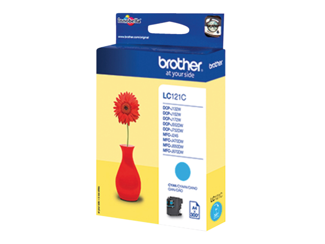 Inkcartridge brother lc-121c blauw