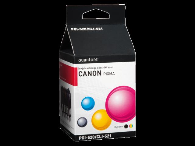 Inkcartridge quantore canon pgi-520 cli-521 2zwart + 3kleur