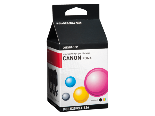 Inkcartridge quantore canon pgi-525+cli-526 2zwart + 3kleur