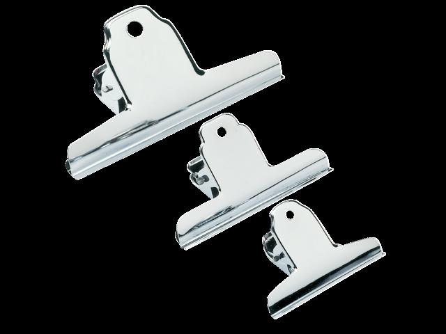 Papierklem spring clips 140mm capaciteit 45mm chroom