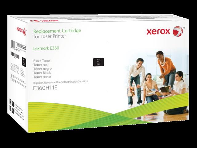 Tonercartridge xerox 106r02653 lexmark e360 zwart