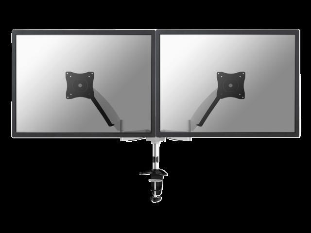 """Flatscreenarm newstar d950d 2 schermen  t/m 27"""" zilvergrijs"""