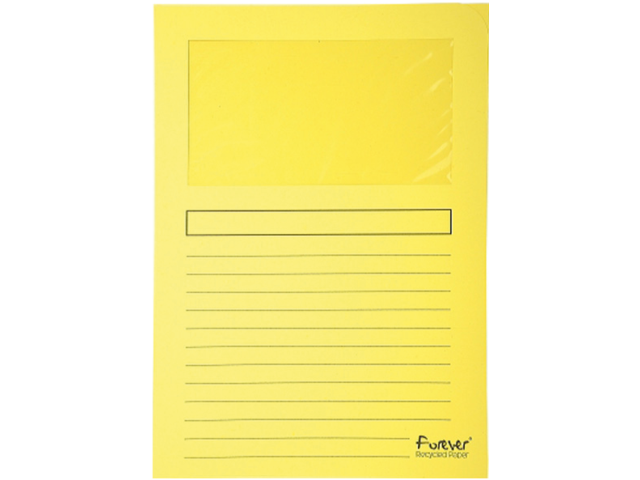 Insteekmap l-model exacompta + venster karton geel
