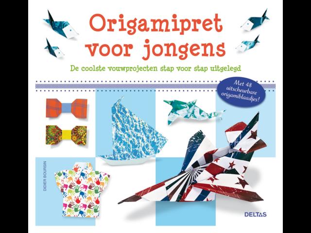 Origamipret deltas voor jongens