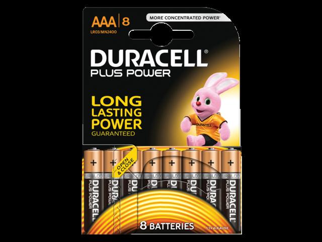 Batterij duracell plus power 8xaaa alkaline