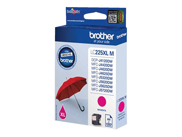 Inkcartridge brother lc-225xlm rood hc