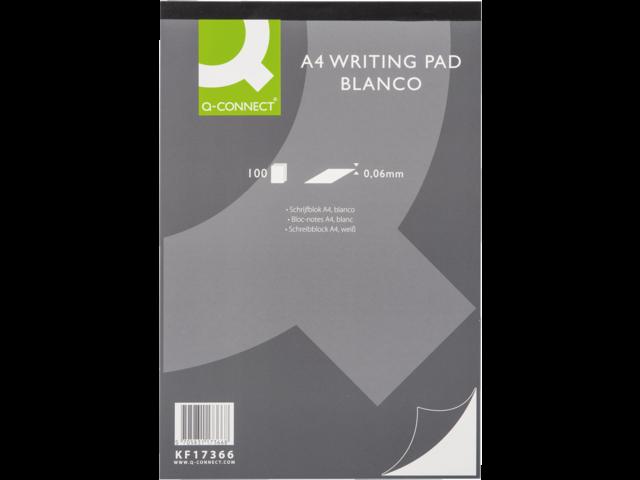 Schrijfblok q-connect a4 blanco 60gr