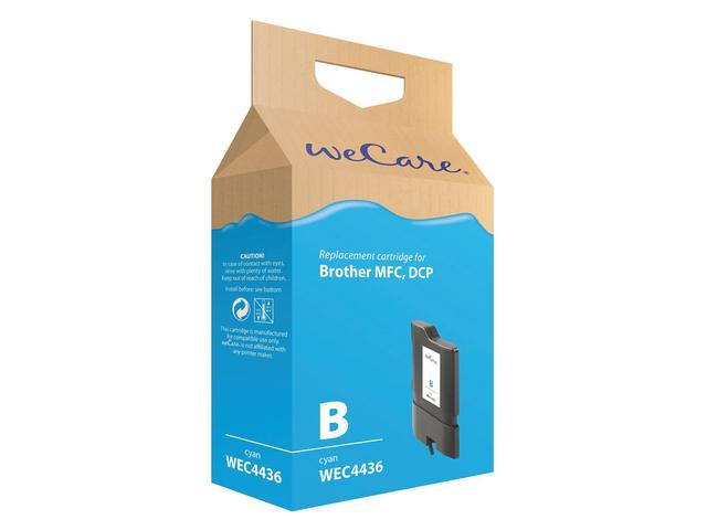 Inkcartridge wecare brother lc-1100 lc-980 blauw