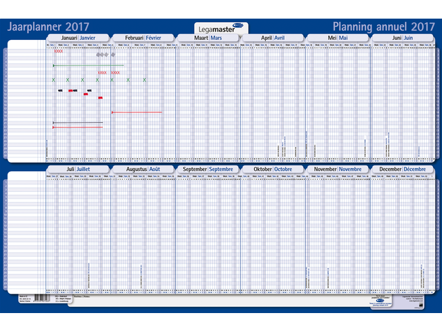 Projectplanner 2017 legamaster 650x86x74mm oprolbaar