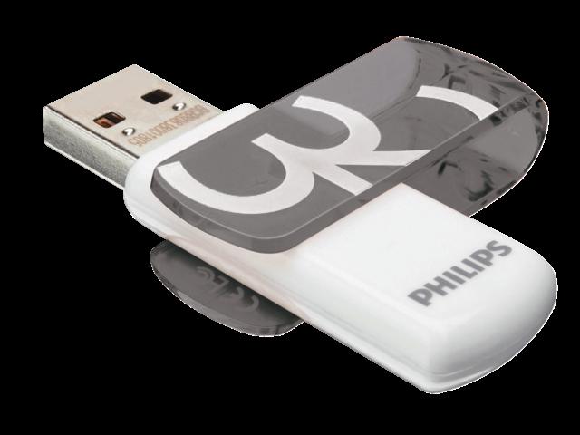 USB-STICK PHILIPS VIVID KEY TYPE 32GB 2.0 GRIJS