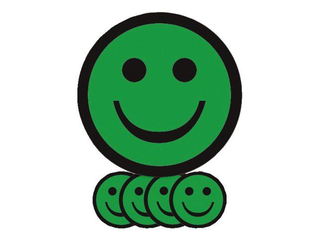 Aimant Smiley 2 5cm émotion Content Vert Commandez Votre Aimant