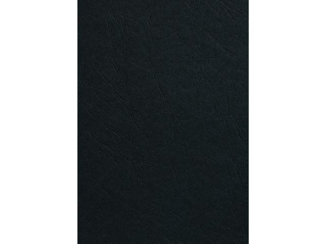 VOORBLAD GBC A4 KARTON LEDERLOOK 250GR ZWART 1