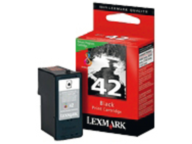 Inkcartridge lexmark 18y0142e 42 prebate zwart