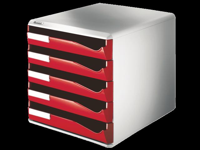 Ladenbox leitz 5280 5 laden rood