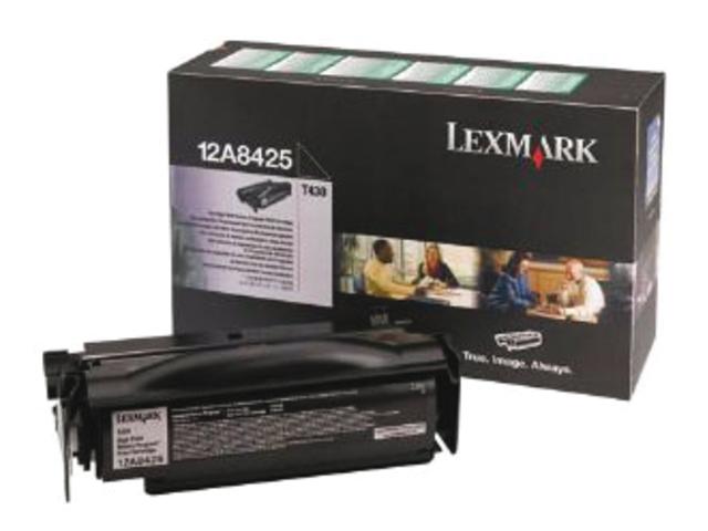 Tonercartridge lexmark 12a8425 prebate zwart