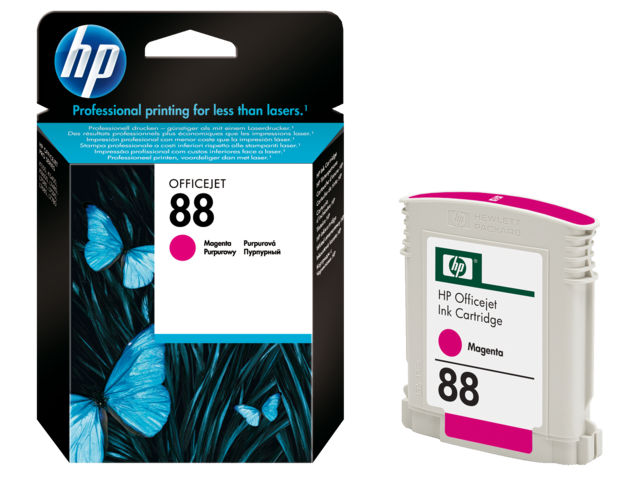 Inkcartridge hp c9387ae 88 rood