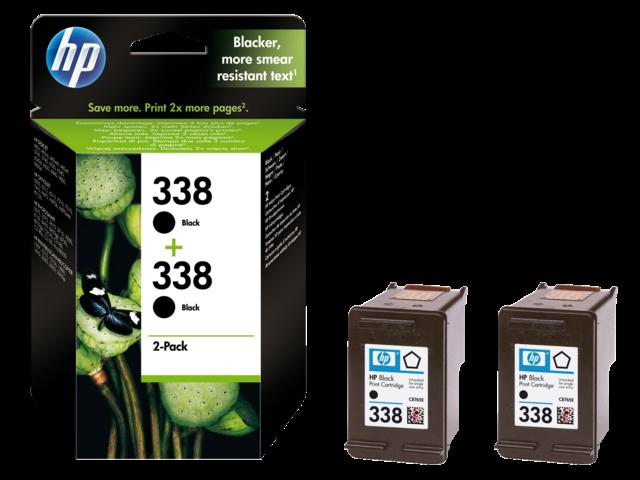 Inkcartridge hp cb331ee 338 zwart 2x