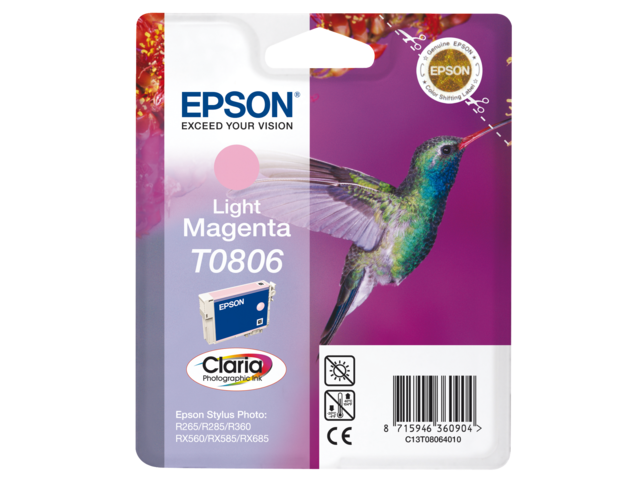 Inkcartridge epson t080640 lichtrood