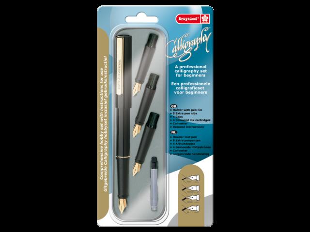 Kalligrafiepen bruynzeel beginnerset 9341p08
